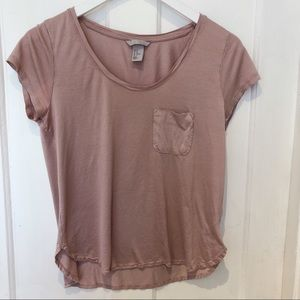 H&M Basic Pink T-shirt
